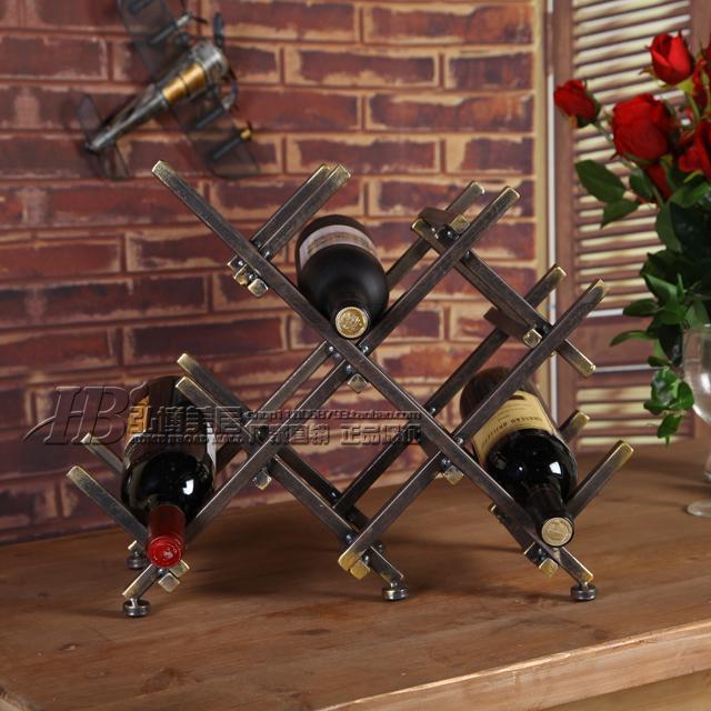 Здесь можно купить  American country style iron desk accessories Wine Bar Wine Shop Wine Racks Iron creative ornaments  Мебель