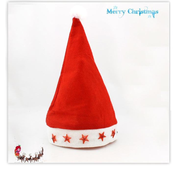 5pcs/lot LED Christmas Ornaments Adult Ordinary Christmas hat decoration Santa hats Children cap for Chiristmas party Props(China (Mainland))