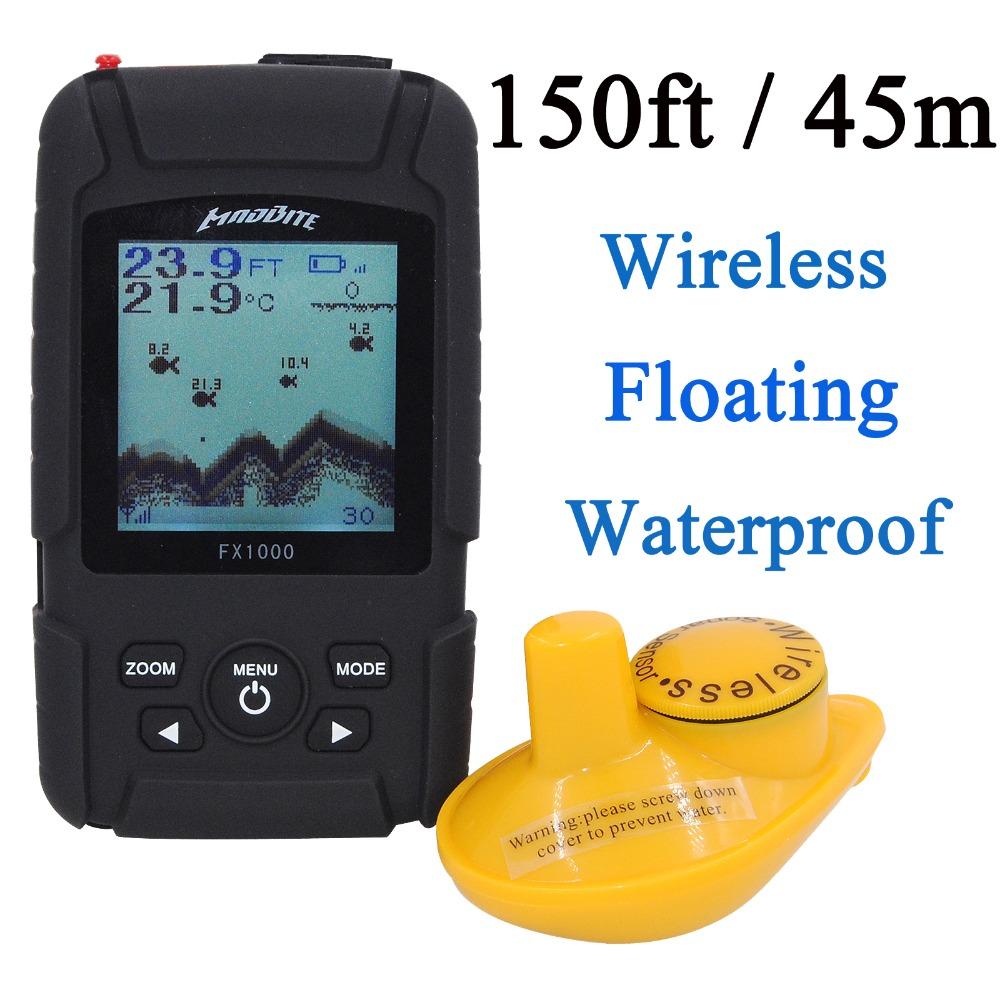 Здесь можно купить  150ft / 45M Portable Wireless Sonar Fish Finder River Lake Sea Bed Live Depth New Contour Waterproof Fishfinder Fishing Finder  Спорт и развлечения
