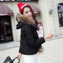 Brand high-quality Female winter down coat short design outwear for women 2015 cloak luxury down coat thickening fur collar