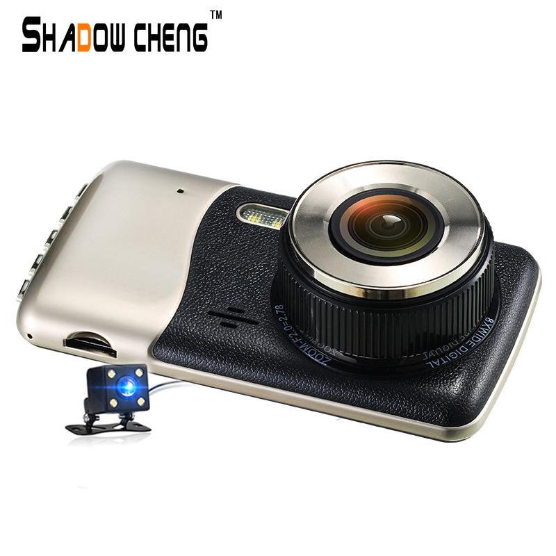 Original Car Camera FHD 1080P DVR Dash Cam 4.0 Inch IPS Screen Dual lens DashCam Auto Video Recorder With LED Rear View Camera(China (Mainland))