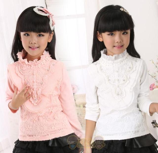 Мода новые дети девочки майка, Осень девочка детские цветочные футболка с длинным рукавом, Детская топы одежду