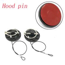 New UNIVERSAL CNC BILLET ALUMINUM RACING HOOD PIN APPEARANCE KIT Hood pin lock red/blue/black/purple/gold/grey(Default: black)