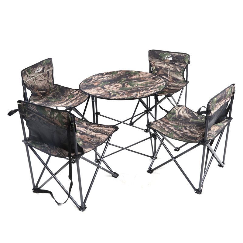 Outdoor Camping Fishing Table Four Chairs One Table Waterproof Cloth Folding Camping Fishing Table Travel Kits(China (Mainland))