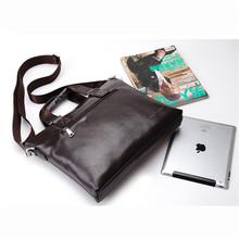 Men Bag 2015 Men s Briefcase Genuine Business Leather Shoulder Bags Quality Brand Handbags Tote Bag