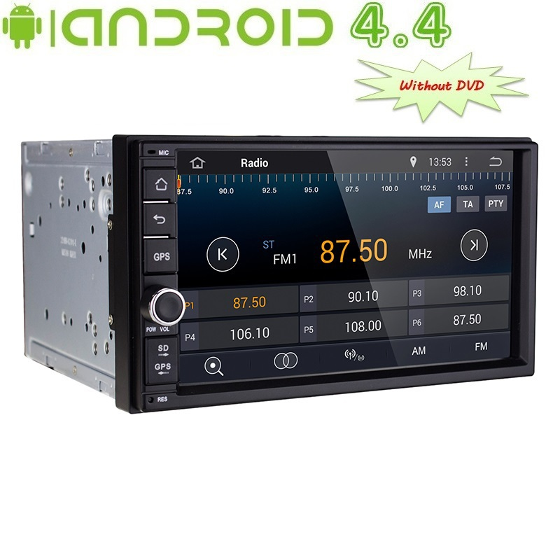 2 DIN Universal Android 4.4 Car Radio Player 7 Inch TFT LCD Screen, GPS, Dual Core CPU, Wi-Fi, 3G(China (Mainland))