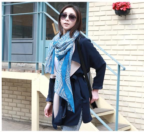 Мода высокое качество древний народном стиле круг решетки шарф хлопка женщин шарфы, оптовая продажа цена