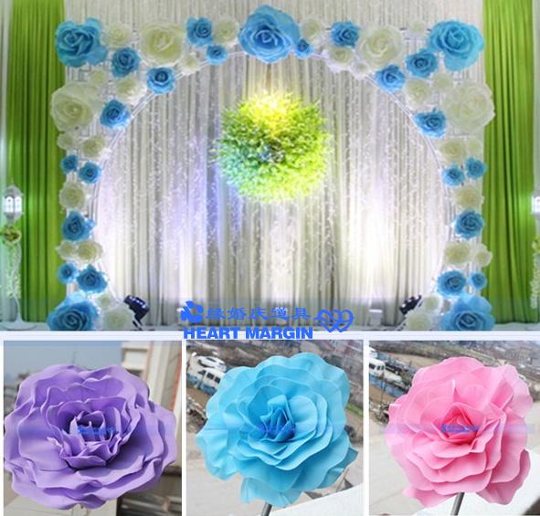30CM Large foam rose Big foam flower flower decoration Wedding background decoration Home decor flower (12pcs/lot)(China (Mainland))