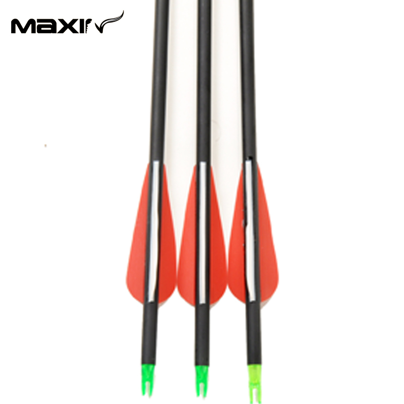 Bow Arrows 3pcs lot Arrow in Hunting 30 75cm Archery Carbon Arrows Suppliers Mixed Carbono Spine