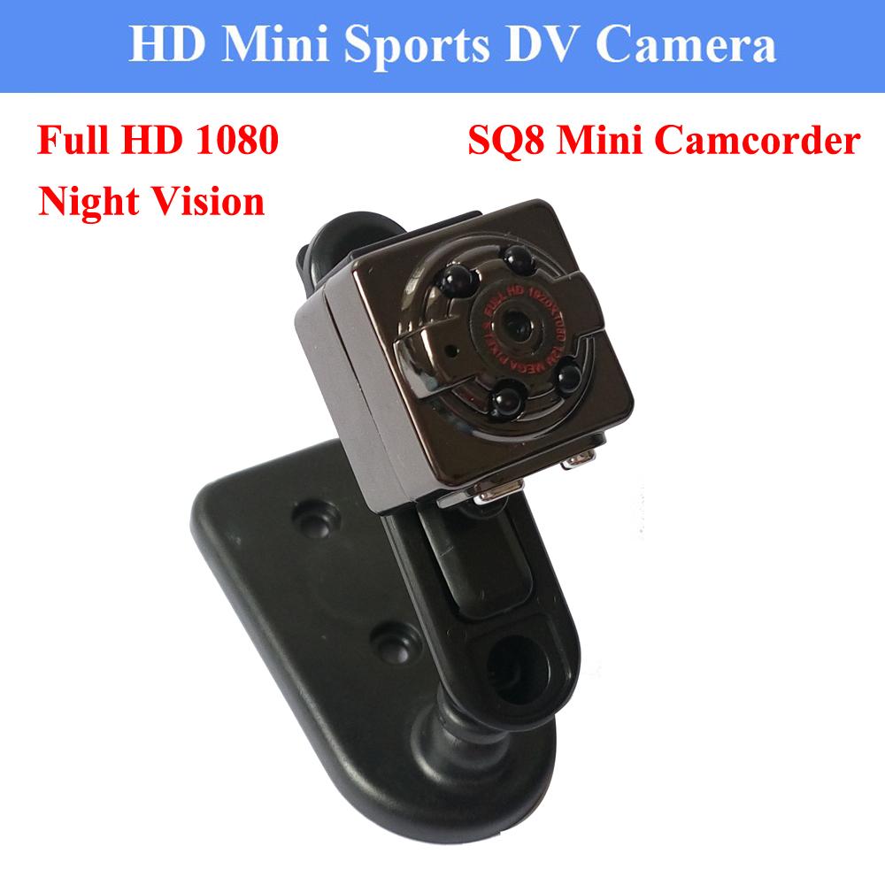 HD 1080P 720P Sport Spy Mini Camera SQ8 Espia DV Voice Video Recorder Infrared Night Vision Digital Small Cam Hidden Camcorder(China (Mainland))