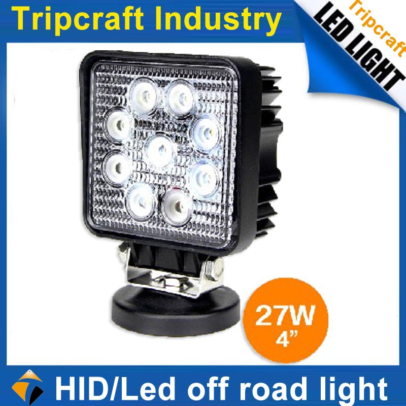 10PCS/LOT Factory Wholesales truck sale led working lights 27W 3w Epistar(China (Mainland))