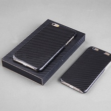 (5pcs/lot) Real Carbon Fiber Case Ultra Thin Mobile Phone Case Extra with 1pcs free screen protector