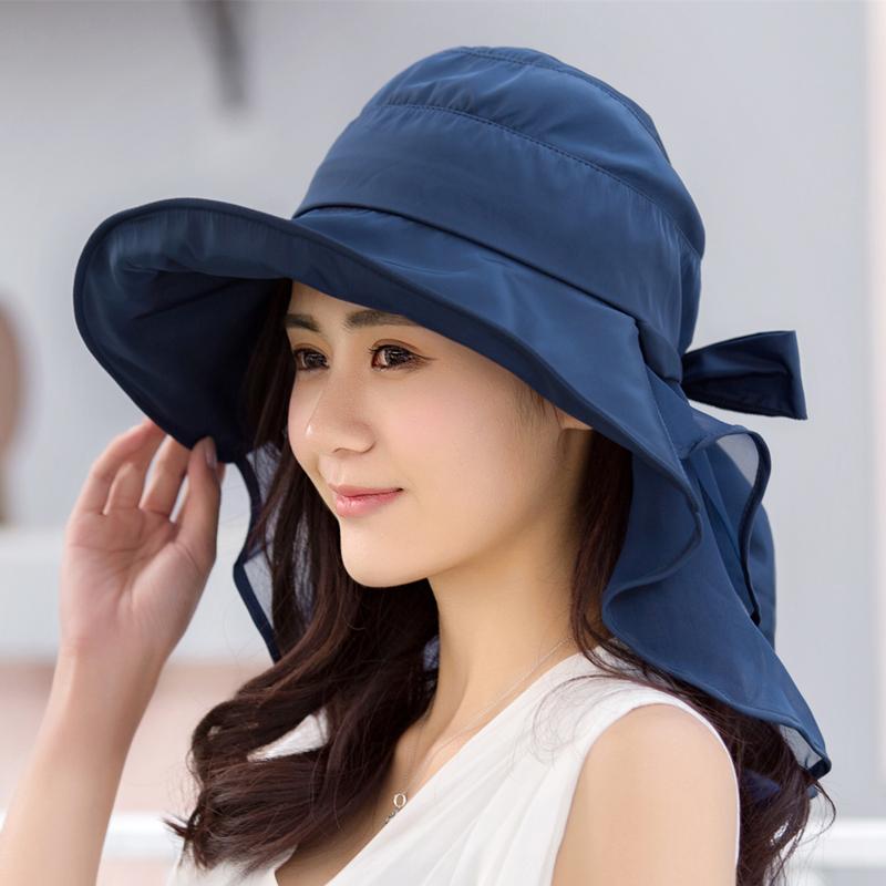Sun Hat Girls Solar Cap With Cooling Summer Neck Protective Dress Elegant For Women Plain To Decorate Luxury Hats Headband Peak(China (Mainland))