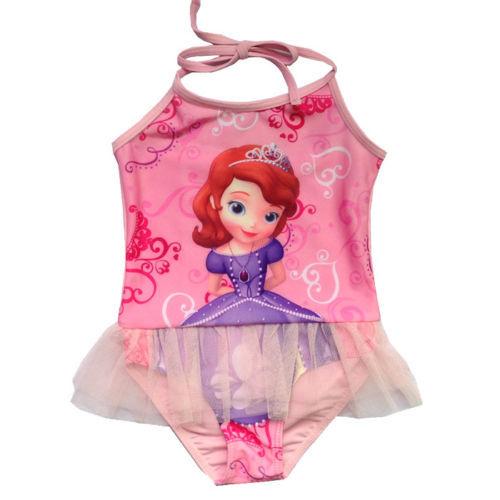 Sofia swimwear girls bathing One piece swimsuits toddler maillot de bain swimming wear(China (Mainland))