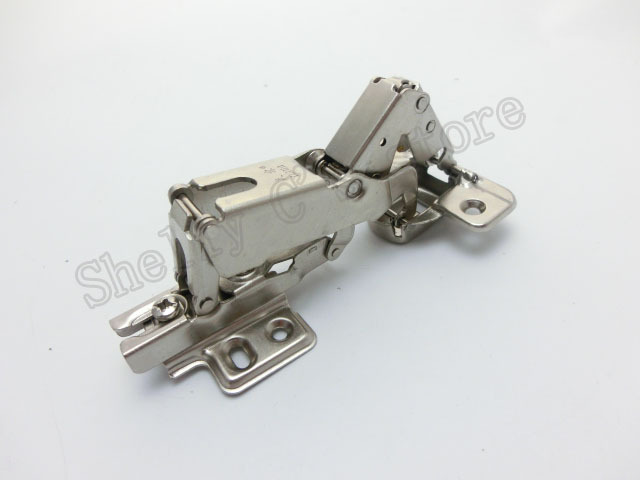 Silver Tone Metal Frameless Cabinet Concealed Hinges 180 Degree(China (Mainland))