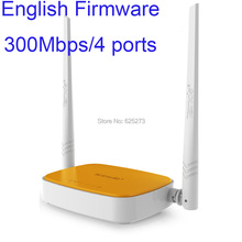 Wireless N router WIFI repeater home networking broadband Access Point 300Mbps 4 Ports RJ45 802.11 g/b/n Tenda N304 free shiping(China (Mainland))