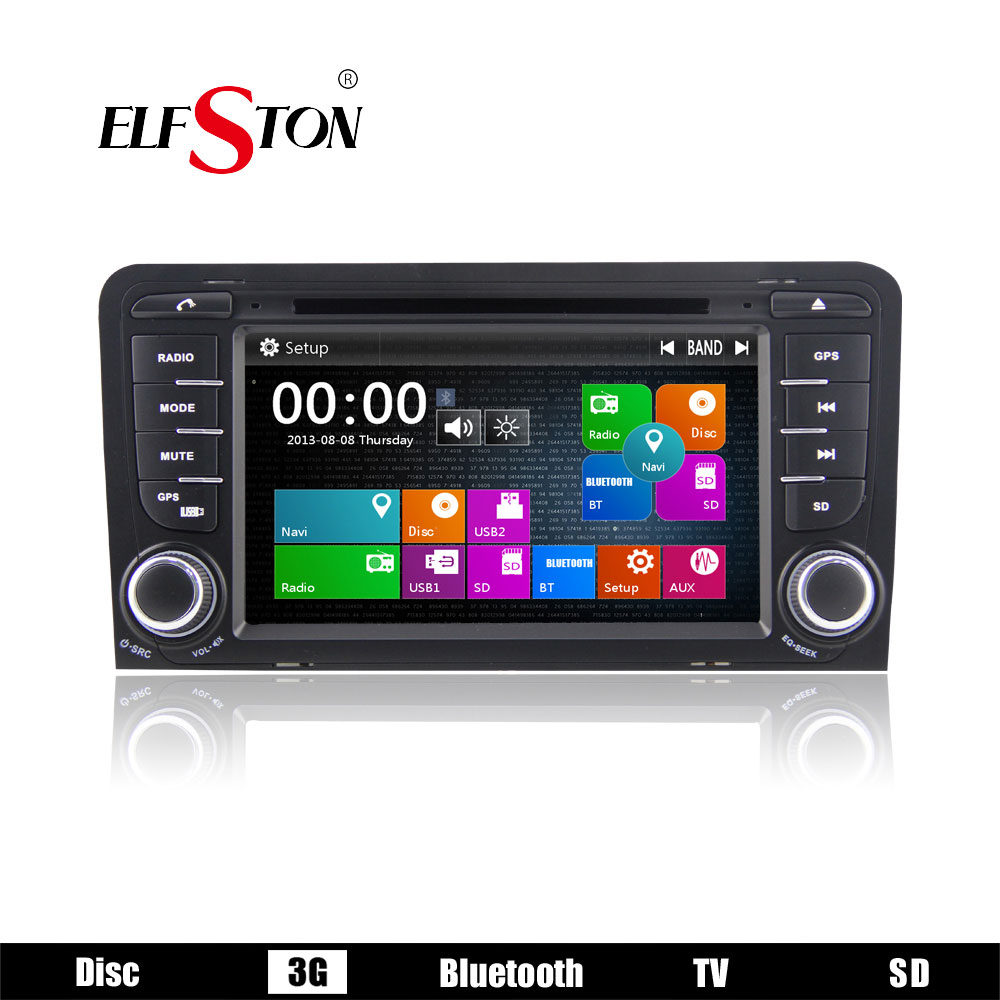 "2 din 7"" car PC dvd media player autoradio stereo For Audi A3 2003-2011 S3 RS3 RNSE-PU with FM AM RDS 3G Bluetooth aux in SD USB(China (Mainland))"