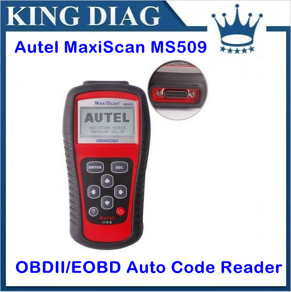 DHL Free Shipping Autel MaxiScan MS509 OBD Scan Tool OBD2 Scanner Code Reader Auto Scanner(China (Mainland))