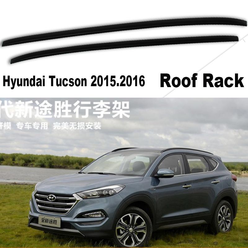 Car Roof Rack For Hyundai Tucson 2015.2016.High Quality Brand New Silver / Black ABS Luggage Racks(China (Mainland))