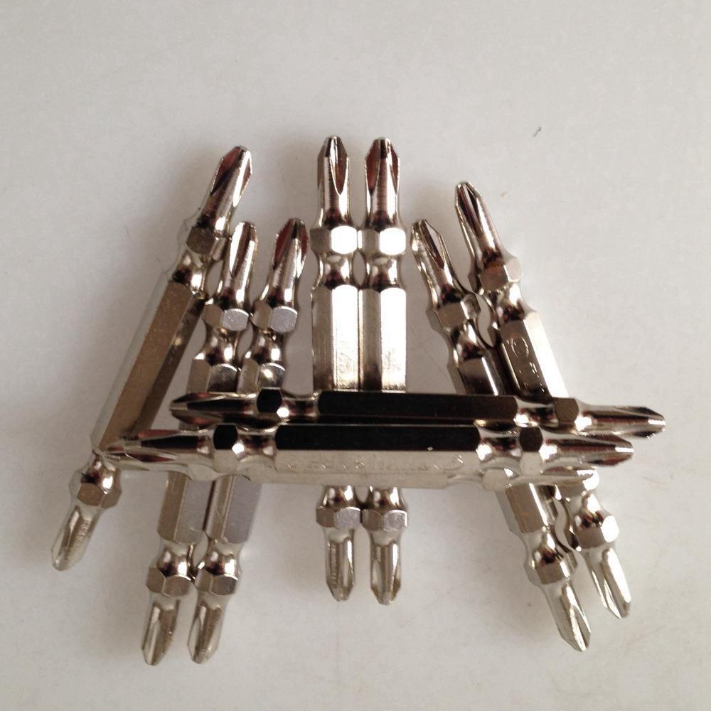 PH2 pneumatic air screwdriver bits magnetic shock-resistant steel S2 length 65mm(China (Mainland))