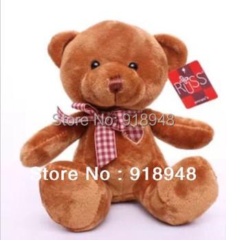 Free Shipping, 1 piece, RUSS 20CM teddy bear Soft Plush toys Teddy Bear for Children kids toys baby toys for girls birthday gift