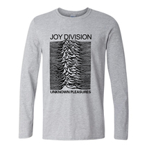 Buy Euro Style Joy Division T Shirts Men Unknown Pleasure Post Punk Gothic t shirt Rock Roll Hot Man Tee O Neck Mens Long Sleeve for $7.70 in AliExpress store