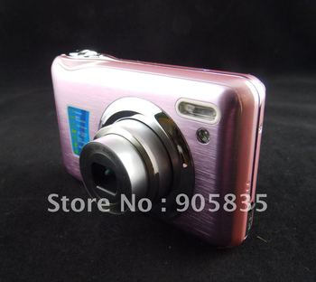 (K5CD)Free Shipping,CCD sensor camera 14MP+ 3XOptical zoom+2.7''Screen+Lithium rechargable battery+AC charger+HD+New Come!