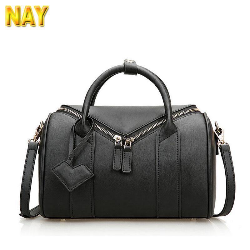 European Classic Fashion Cow Leather Boston Bag Women Leather Handbag Shoulder Bag(China (Mainland))