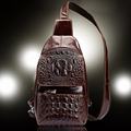 High Quality Genuine Leather First Layer Cowhide New Trend Men Messenger Shoulder Cross Body Bag Travel
