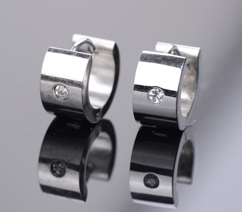Big Size Men's Earrings New 2014 Men Jewelry Stainless Steel & Titanium Steel Stud Earrings For Men