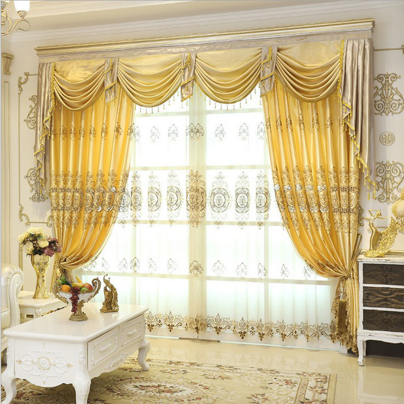Set Luxurious jacquard curtains for living room window valance Europe style  curtains for bedroom hotel curtains. Online Get Cheap Bedroom Window Valances  Aliexpress com   Alibaba