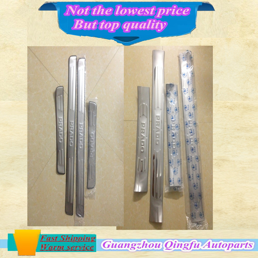 High quality Built pedal Cover threshold  Stainless Steel Door  sill scuff plate 8pcs Welcome for Toyota Prado 8pcs<br><br>Aliexpress