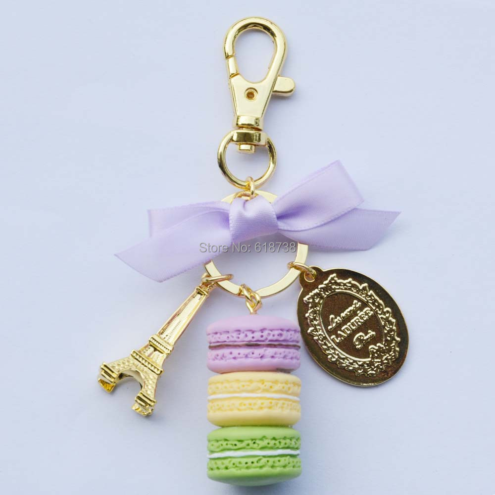 Big size laduree macaron key chain-purple.JPG