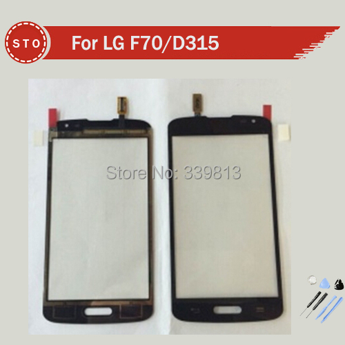 100% originla For LG F70 D315 Touch Screen Digitizer pannel black and white color +Tools Free Shipping