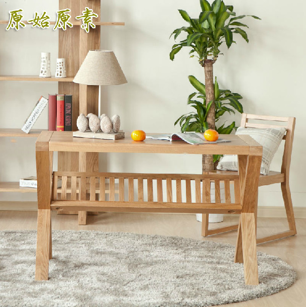 White oak furniture / solid wood study table / office table / computer desk / study furniture(China (Mainland))