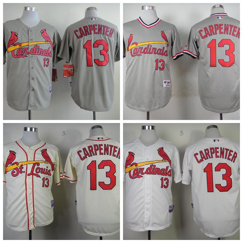 Hot Wholesale Mens St. Louis Cardinals Jerseys #13 Matt Carpenter Baseball Jersey,Accept Mixed Orders,Embroidery Logos,Size M-XX