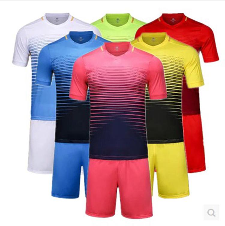custom made 2016 New Men's Soccer Jerseys Blank Training Set Soccer Uniform Plain Football Suits Customize Logo Name(China (Mainland))
