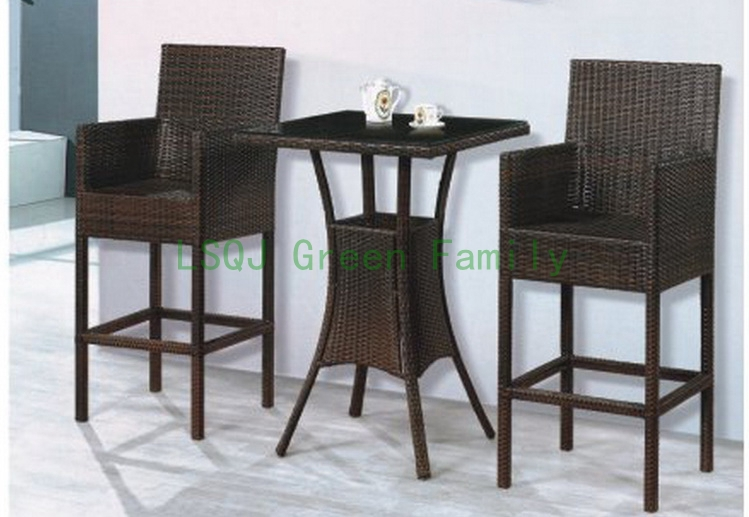 M981rattan patio bar set bar table and bar chair 30 sets for Couch 6 personen