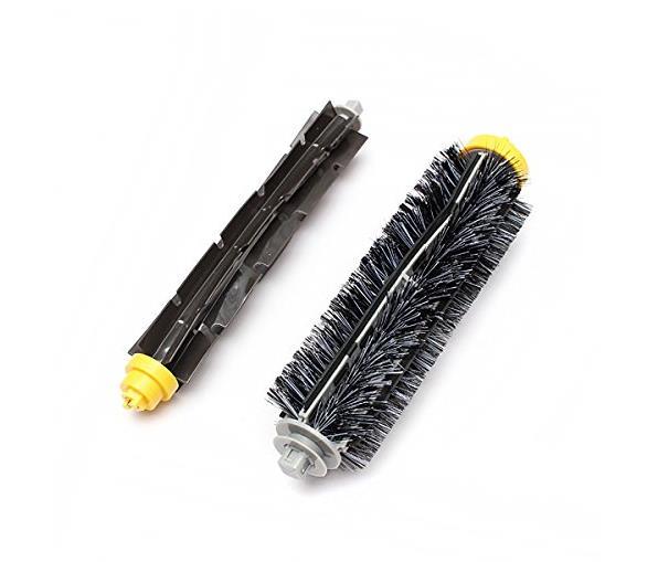 1 pair Bristle Brush & Flexible Beater Brush For iRobot Roomba 500 600 700 Series 585 595 620 625 630 650 660 760 770 780 790(China (Mainland))