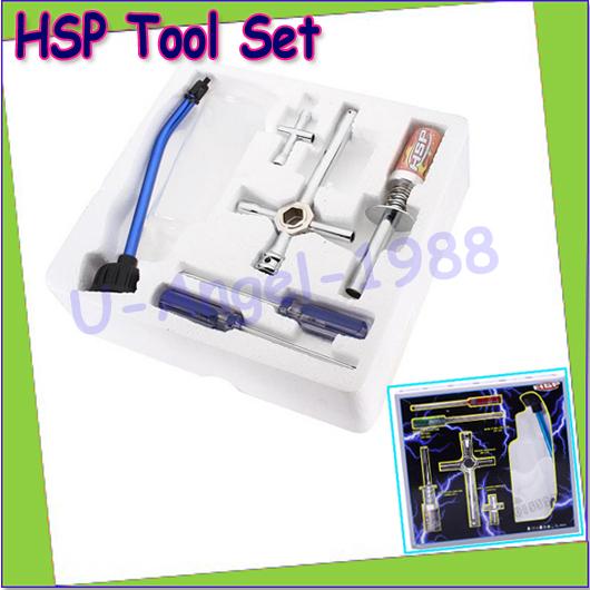 Wholesale 7pcs/set HSP Spare parts 80142 Nitro Starter Tools Kit Set for R/C Car EU AU US AK for choose(1 set) Dropship(China (Mainland))
