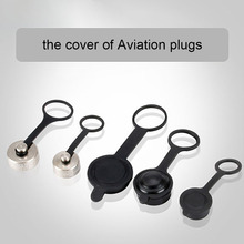 5Pieces Aviation Plug Cover Waterproof Connector Plugs Dust Rubber / Metal Cap for GX12 GX16 GX20(China (Mainland))