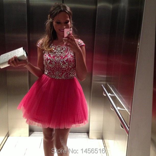 Prd-c60 подросток бальное платье тюль из бисера Cap рукавом выше колена на заказ ...