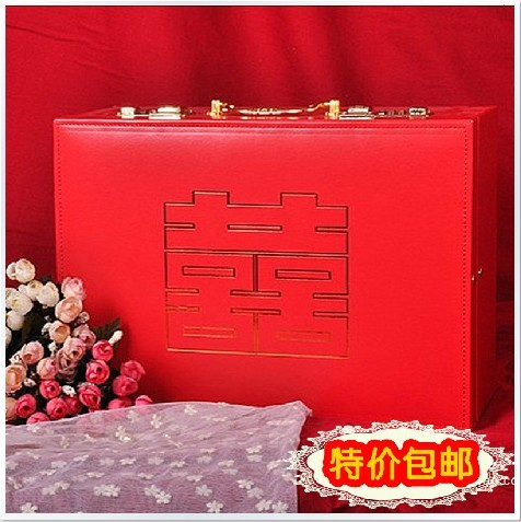 Red Vintage Suitcase Red Married Suitcase Gold Box