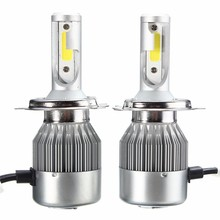 Pair 72W 7600LM Car Auto LED COB Headlight Super Bright Lights Night Driving Lamps Bulbs H1 H3 9005 9006 H7 H4 Double Beam - alicheery Co,.Ltd store