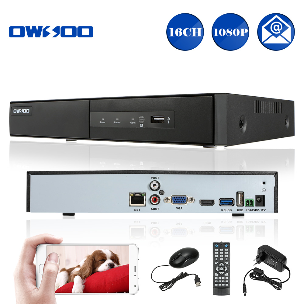 CCTV 1080P 16CH NVR ONVIF 1-CH HD/VGA/RCA Output 16 Channel H.264 P2P Network NVR Recorder For IP Camera Support Phone View(China (Mainland))