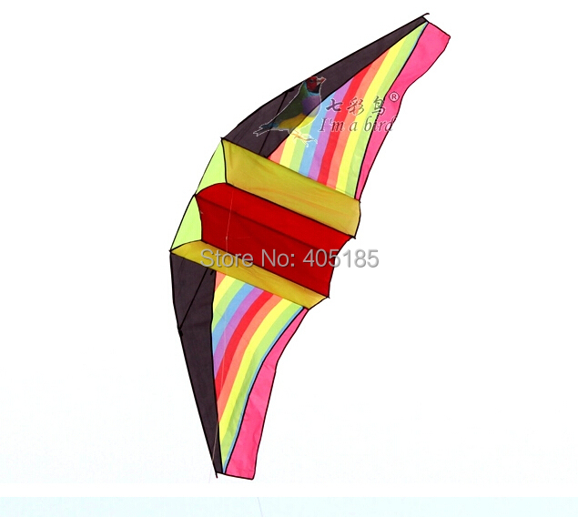 Free Shipping Outdoor Fun Sports Rainbow Glider 3D Power Kite With Flying Tools Factory Direct(China (Mainland))