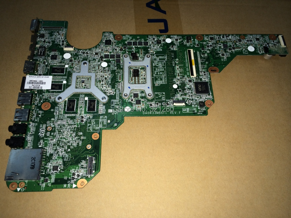 Warranty 90 days  680570-501 DA0R33MB6F1  REV : F For HP Pavilion G6 G4 G7 Laptop Motherboard Mainboard paypal accepted  <br><br>Aliexpress