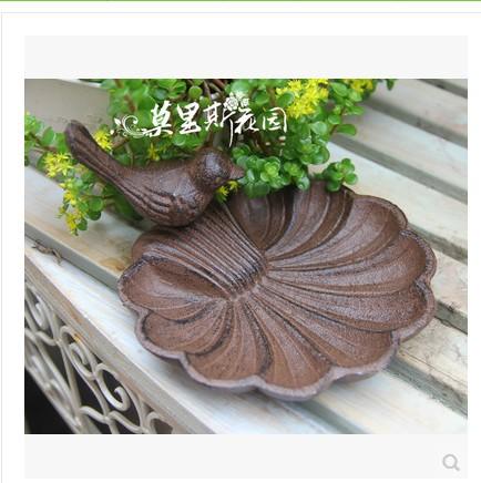 Cast iron ornamental horticulture garden supplies bird bowl 17*14*8cm(China (Mainland))