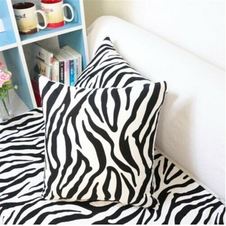 Leopard geometric black and white zebra pillow cushion bed linen cushion backrest Zebra pillow Home Decorative