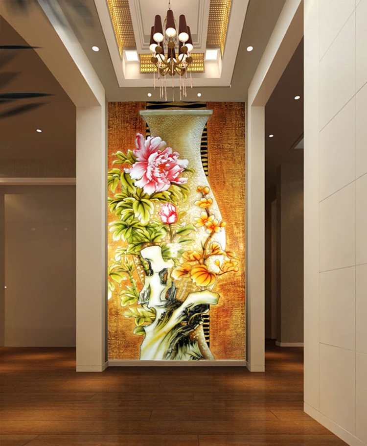 Flower 3d Wall Panels : Aliexpress buy luxury d european oil painting